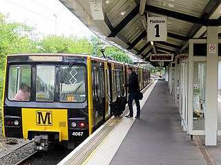 Newcastle Airport Metro station Tyne and Wear Metro station in Newcastle upon Tyne