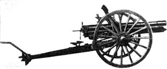 Type 41 75 mm cavalry gun - A Type 41 cavalry gun seen from the side