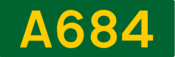 A684 road shield