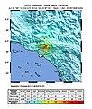 USGS Shakemap - 1991 Sierra Madre earthquake.jpg