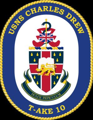 USNS Charles Drew (T-AKE-10) - Image: USNS Charle Drew T AKE 10 Crest