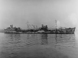 USS Cimarron (AO-22) off the Norfolk Naval Shipyard on 6 February 1942 (19-N-30121).jpg