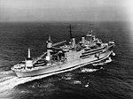 USS Curtiss (AV-4) underway at sea, in 1954 (NH 97416).jpg