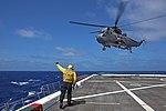 USS San Diego conducts flight operations. (27926284766).jpg