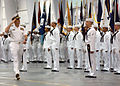 US Navy 030606-N-5576W-002 Adm. William J. Fallon, Vice Chief of Naval Operations (VCNO), Reviewing Officer for a recent recruit graduation, receives salutes from graduating divisions during ceremonies at Recruit Training Comm.jpg