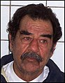 US Navy 031214-D-0000X-002 Former Iraqi leader Saddam Hussein following his capture by soldiers from the 1st Brigade Combat Team, 4th Infantry Division, in Tikrit, Iraq, Dec. 13, 2003.jpg