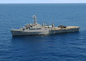 USS Dubuque under övningen RIMPAC utanför Hawaii 2004.