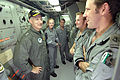 US Navy 050607-N-5781F-171 Commander Carrier Strike Group Five (CVW-5) Rear Adm. Jamie D. Kelly visits with the fire control crew of Royal Australian Navy frigate HMAS Canberra (FFG 02).jpg
