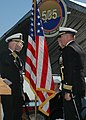 US Navy 051118-N-3714J-067 Cmdr. Andrew C. Wilder relieves Cmdr. Edward L. Hasell as Commanding Officer, USS Dolphin (AGSS 555) during a change of command ceremony.jpg