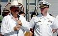 US Navy 060504-N-2736O-004 President of the Republic of Honduras, Jose Manuel Zelaya, addresses the crew aboard Oliver Hazard Perry-class frigate USS Underwood (FFG 36).jpg
