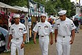 US Navy 060609-N-8797R-002 Sailors assigned to the guided-missile destroyer USS Preble (DDG 88) enjoy the Waterfront Carnival during the 99th annual Portland Rose Festival.jpg
