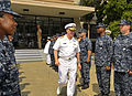 US Navy 090724-N-8273J-267 Chief of Naval Operations (CNO) Adm. Gary Roughead departs Naval Air Station Oceana headquarters after meeting with senior leadership.jpg
