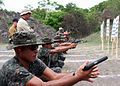 US Navy 100518-N-0000X-005 Sailors from the Fuerza Especial Naval, the Guatemalan Naval Special Forces, participate in a pistol familiarization course.jpg