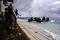 US Navy 100919-N-8335D-539 Marines assigned to the 31st Marine Expeditionary Unit (31st MEU) in combat rubber reconnaissance craft approach the ste.jpg