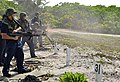 US Navy 100930-N-9402T-226 Sailors engage in a live-fire training exercise at the British Indian Ocean Territory firing range.jpg