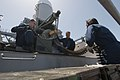 US Navy 110403-N-RC734-058 Sailors unload ammunition from the Phalanx Close-In Weapons System (CIWS) aboard the amphibious dock landing ship USS Co.jpg
