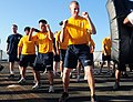 US Navy 110615-N-NR955-062 Sailors aboard USS Bulkeley (DDG 84) prepare for the obstacle course to complete level one self-defense training on the.jpg