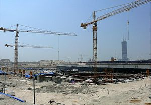 Ubora Towers - Ubora Towers construction site in September 2007