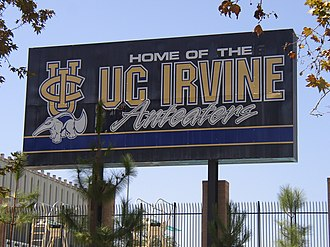 UC Irvine Anteaters - UCI sign at Crawford Hall – the athletic complex.