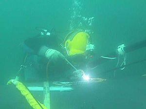 Hyperbaric welding - Underwater welding