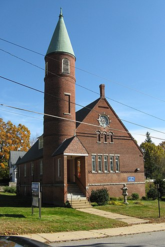 National Register of Historic Places listings in Worcester County, Massachusetts - Image: Unitarian Universalist Society of Gardner, MA