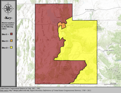 Utah S Congressional Districts Wikipedia