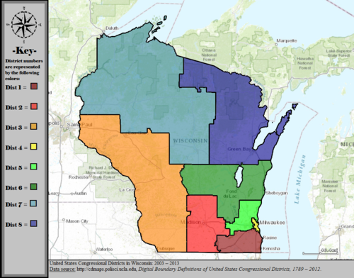 United States Congressional Districts in Wisconsin, 2003 – 2013.tif