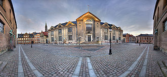 University of Copenhagen - University Main Building, Frue Plads. (Distorted 180° panorama).