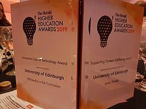 University of Edinburgh wins Herald Higher Education Award 2019