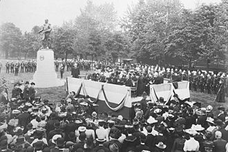 John Graves Simcoe - The 1903 unveiling of the General John Graves Simcoe monument at Queen's Park in Toronto.