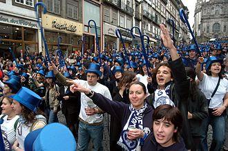 University of Porto - Queima das Fitas student parade.