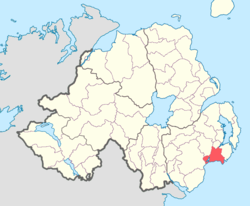Location of Lecale Upper, County Down, Northern Ireland.