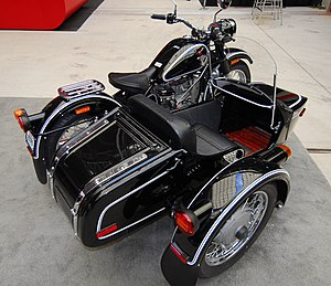 """Motorcycle accessories - IMZ-Ural motorcycle with a """"sports"""" sidecar"""