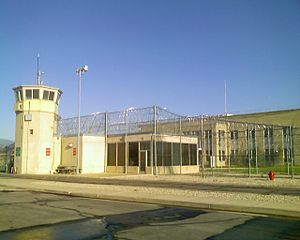 Visitors entrance to the Utah State Prison in ...