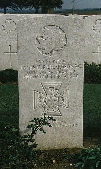 James Cleland Richardson - Richardson's headstone