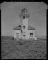 VIEW FROM ISLAND, SHOWING SOUTH FACADE, LOOKING NORTH - Cape Arago Lighthouse, Gregory Point, Charleston, Coos County, OR HABS OR-189-6.tif