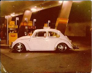 "Cal-Style VW - An early ""true"" vintage Cal-Style Volkswagen, built by Robert Velis in 1982 (Huntington Park, southeast LA, 1983)"