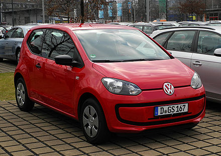 The Volkswagen up! won the 2012 World Car of the Year VW take up! 1.0 – Frontansicht, 25. Februar 2012, Düsseldorf.jpg