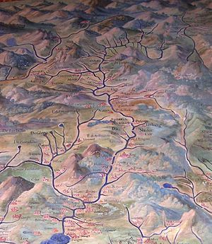 Val Camonica - Map of Val Camonica (16th C., The Gallery of Maps, Vatican Museums)