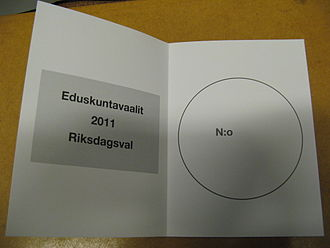 Open list - Ballot during the Finnish parliamentary election of 2011