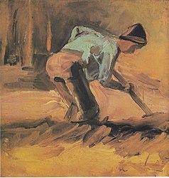 Vincent van Gogh: Peasant digging