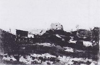 Blick auf Montmartre mit Steinbruch
