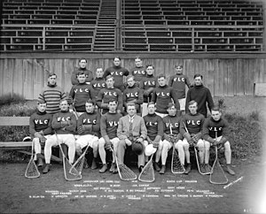 Newsy Lalonde - Lalonde, third from left in the front row, with the Vancouver Lacrosse Club in 1912