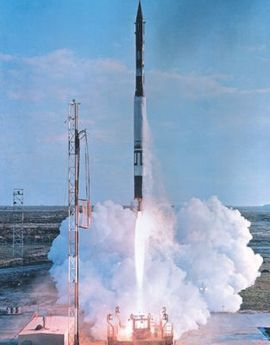 Launch of Vanguard rocket. (U.S. Navy)
