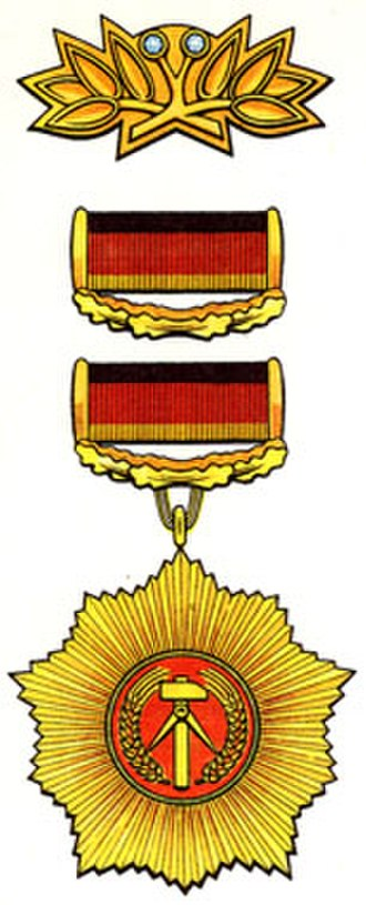 Orders, decorations, and medals of East Germany - Image: Vaterlaendischer Verdienstorden
