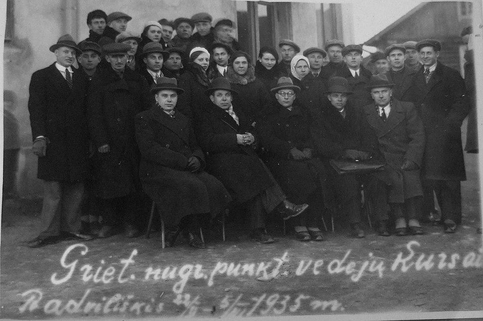Vedeju kursai radvilishkis 1935