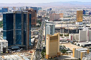 English: View of the Las Vegas Strip from the ...