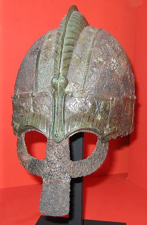Swedes (Germanic tribe) - Vendel Period helmet at the Swedish History Museum.