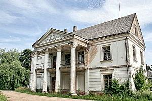 Vepriai - Desolate Vepriai manor palace