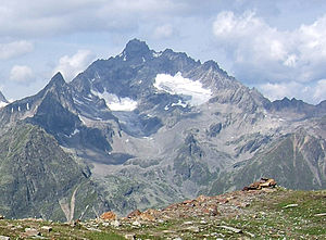Verpeilspitze - Verpeilspitze from the east over the Pitz valley from Gahwinden (2648m)